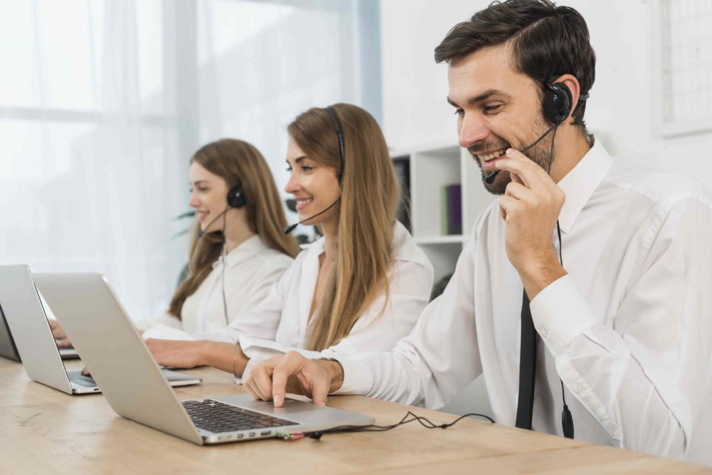 working call centre image
